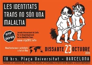Manifiestació de lluita transgènere, transsexual i intersex- 23 d'octubre del 2010