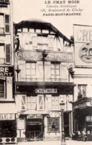 Le Chat Noir en Montmartre de Paris en 1881