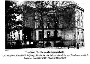 Institut für Sexualwissenschaft en Berlín a