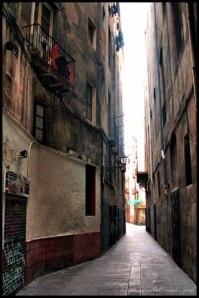 calle del Arc del Teatre de Barcelona. ...
