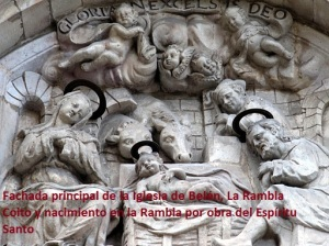 Fachada principal de la Iglesia de Belén, La Rambla