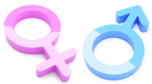 3d Render Of Male And Female Symbols - More in my portfolio!